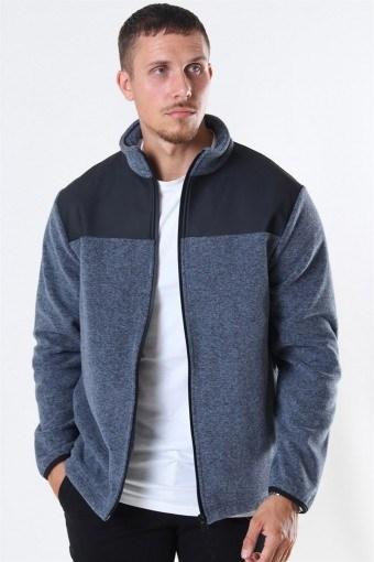 Fleece Zip Puller Jacke Grey Melange