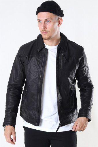 Tony Jacket Leather Black
