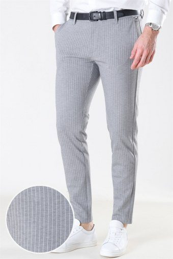 Mark Pant Stripe GW 3727 Light Grey Melange