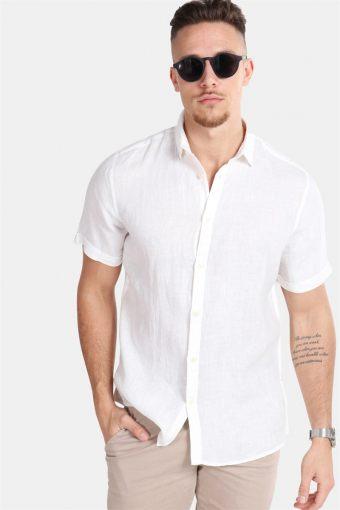 Caiden SS Linen Hemd R White