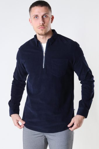 Johan Baby Corduroy half zip shirt Navy