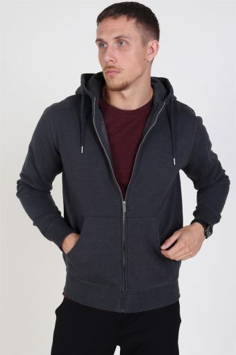 Organic Morgan Zip Sweatshirts Dark Grey Mel