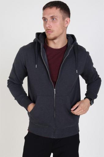 Organic Morgan Zip Sweatshirts Dark Grey Mel