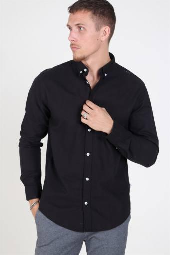 Johan Oxford Washed Hemd Black
