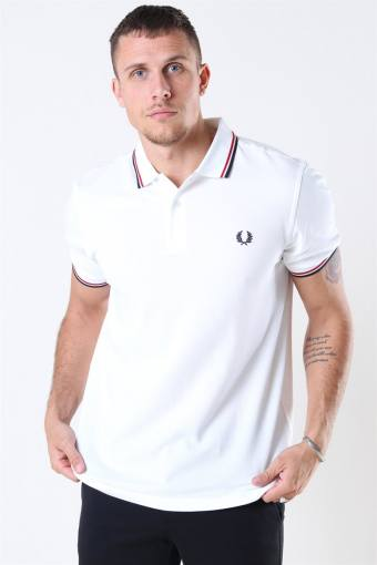 Twin Tipped Polo White/Bright Red/Navy