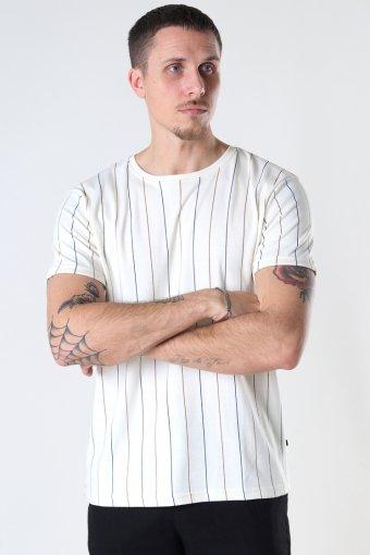 Louis Organic Tee Ecru Stripe