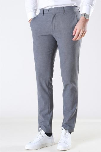 Slim-Carlo Flex StructUhre Pants Grey Melange