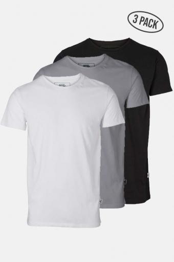 Elon Recycled cotton 3-pack t-Hemd White/Black/Grey