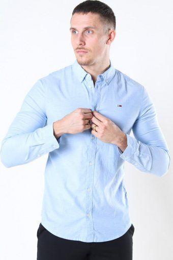 Tommy Jeans Slim Stretch Oxford Hemd Perfume Blue