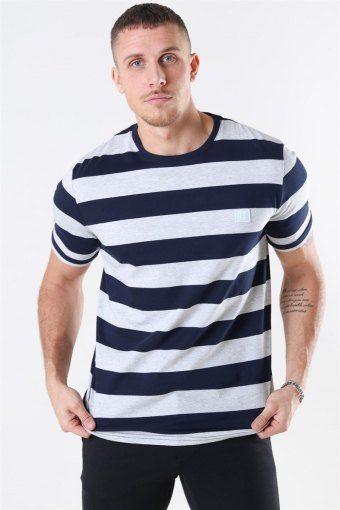 Levoir T-shirt Snow Mel/Navy