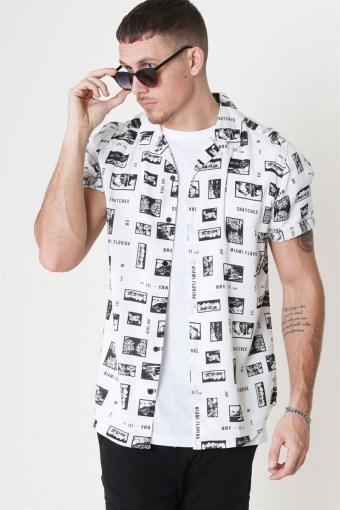 Oliver SS Printed Hemd White