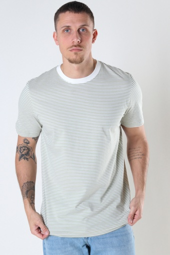 SLHCOLTON STRIPE SS O-NECK TEE M Tea