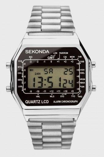 1816 Stainless Steel Bracelet Digital Uhr