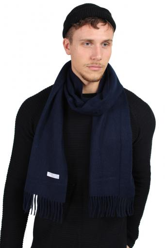 Tope Wool Schal Dark Navy