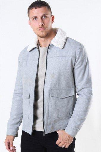Linton Soft Jacke Light Grey Mel