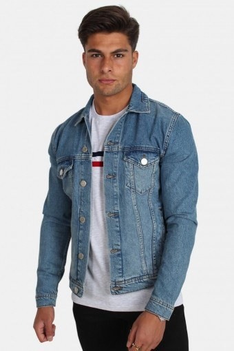 Dave Rigid Denim Jacke Light Blue