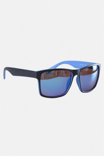 Fashion 1391 Mat Black/Blue Sonnenbrille Brown Lens/Blue Mirror