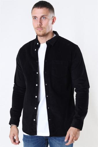 Johan CordUhroy Overshirt Black