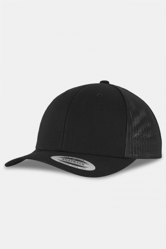 Flexfit Retro Trucker Cap Black