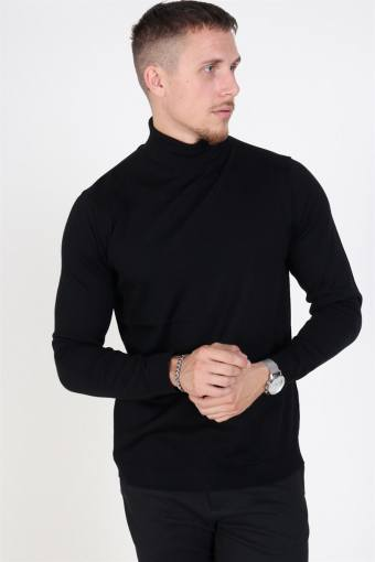 Merino Turtleneck Strik Black