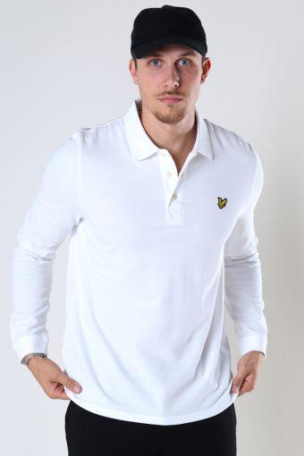 LS Polo Hemd White