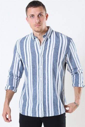 Clean Cut Sälen 146 LS Hemd Blue/Off White